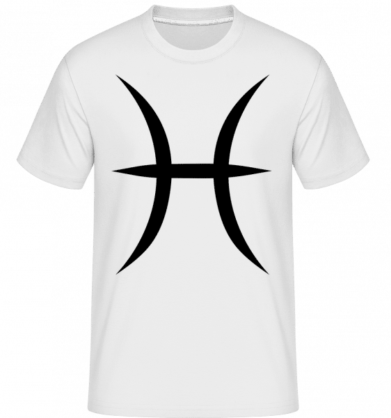 Fische Zeichen - Shirtinator Männer T-Shirt - Weiß - Vorn