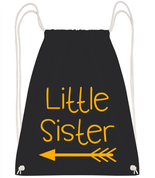 Little Sister - Drawstring Backpack - Black - Vorn