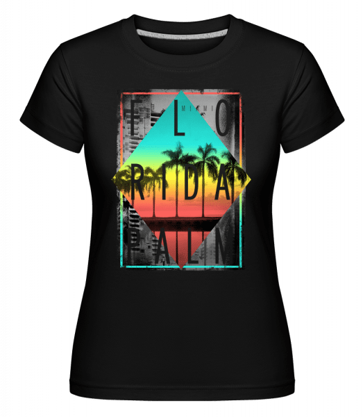 Florida Palm -  Shirtinator Women's T-Shirt - Black - Vorn