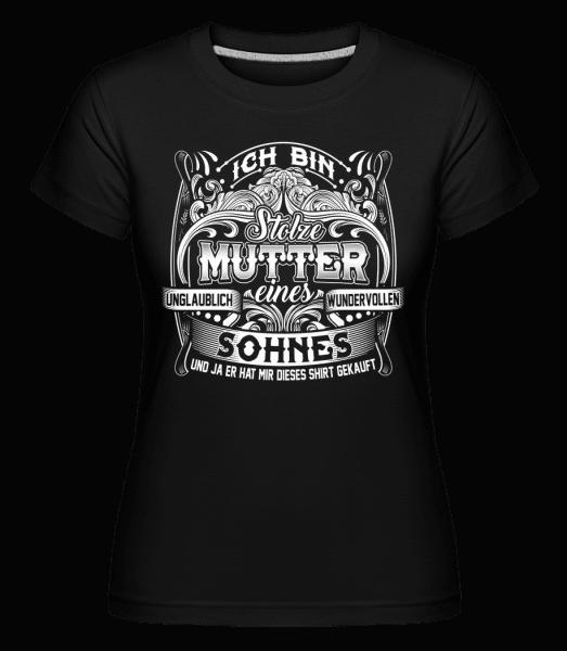 Ich Bin Stolze Mutter - Shirtinator Frauen T-Shirt - Schwarz - Vorn