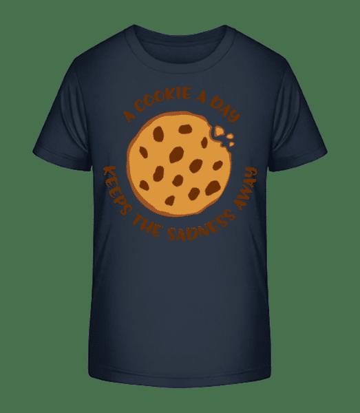 A Cookie A Day - Kid's Premium Bio T-Shirt - Navy - Vorn