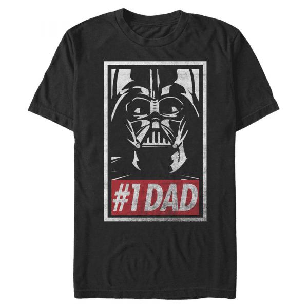 Obey Dad Darth Vader - Star Wars - Men's T-Shirt - Black - Front