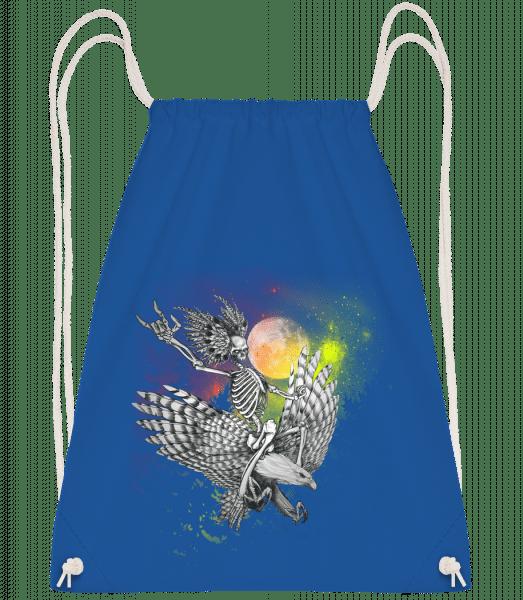 Death Flyer - Drawstring Backpack - Royal blue - Vorn