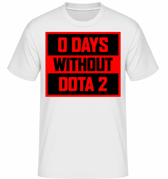 Zero Days Without Dota 2 -  Shirtinator Men's T-Shirt - White - Vorn
