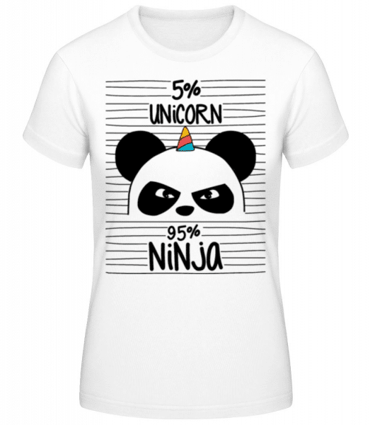 5% Unicorn 95% Ninja - Women's Basic T-Shirt - White - Front
