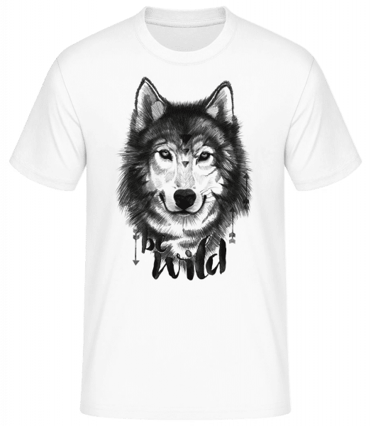 Be Wild - Men's Basic T-Shirt - White - Front