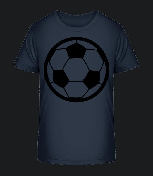 Soccer Ball - Kid's Premium Bio T-Shirt - Navy - Vorn