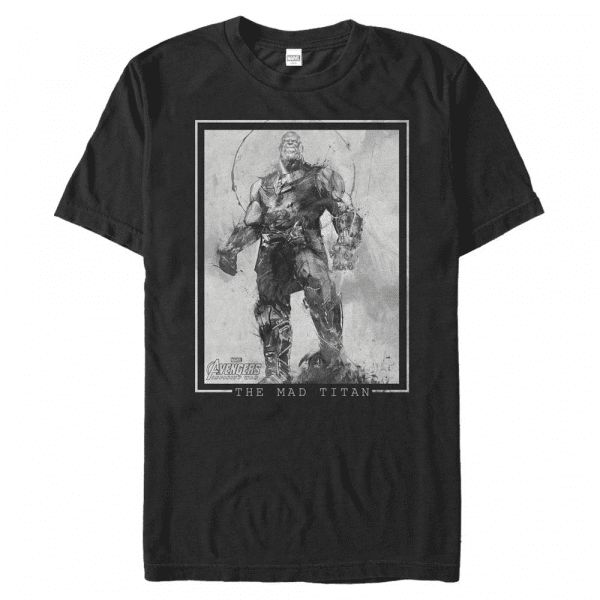 Mad Titan Thanos - Marvel Avengers Infinity War - Men's T-Shirt - Black - Front