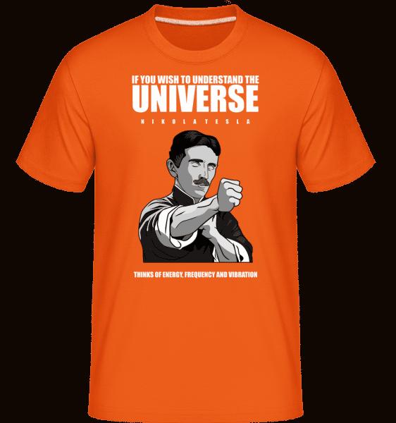 Nikola Tesla Ip Man -  Shirtinator Men's T-Shirt - Orange - Vorn
