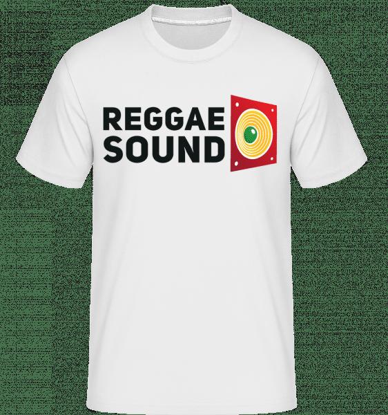 reggae Sound -  Shirtinator tričko pre pánov - Biela - Predné