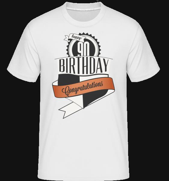 90 Birthday Congrats -  Shirtinator Men's T-Shirt - White - Vorn