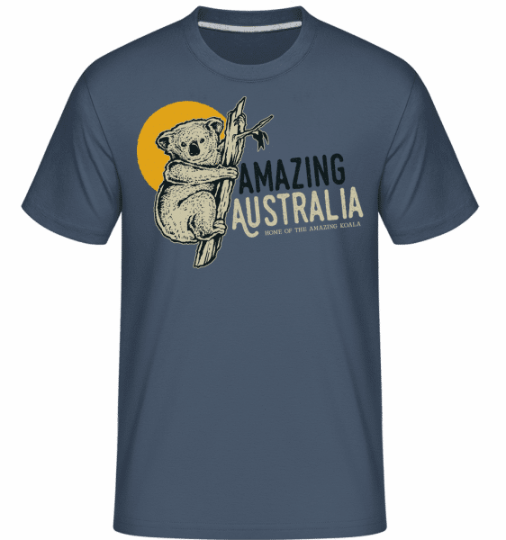 Koala Amazing Australia -  Shirtinator Men's T-Shirt - Denim - Vorn