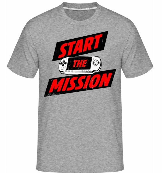 Start The Mission -  Shirtinator Men's T-Shirt - Heather grey - Vorn