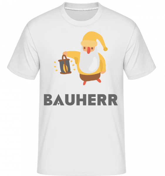 Gartenzwerg Bauherr - Shirtinator Männer T-Shirt - Weiß - Vorn
