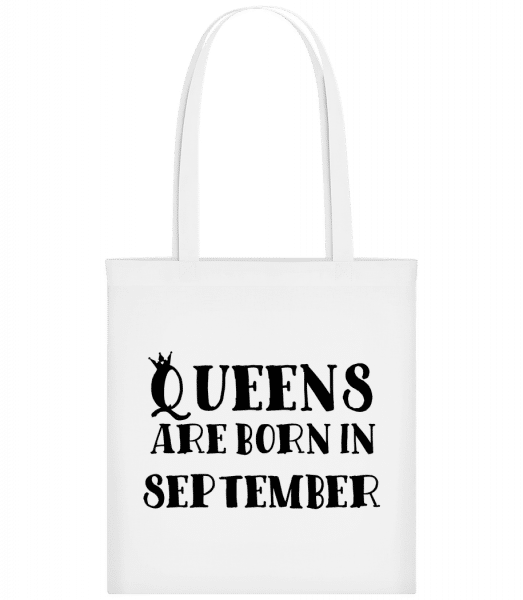 Queens Are Born In September - Sac tote - Blanc - Devant