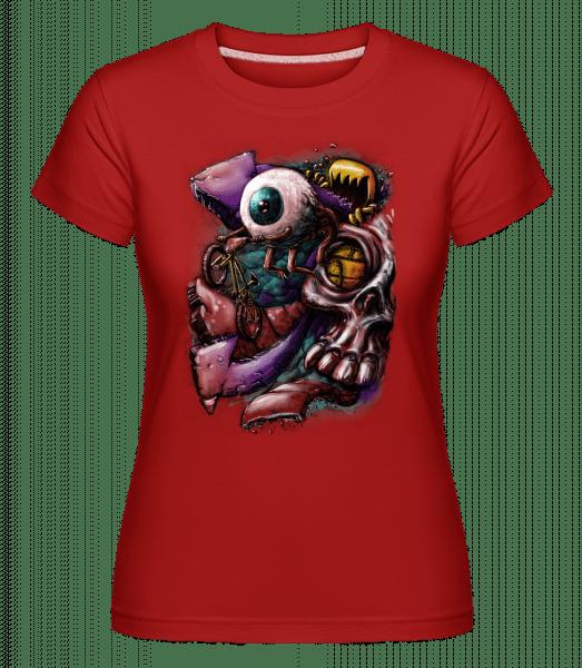 Augenflucht - Shirtinator Frauen T-Shirt - Rot - Vorn