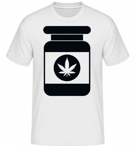 Cannabis Box -  Shirtinator Men's T-Shirt - White - Vorn