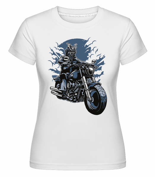 Samurai Ride -  Shirtinator Women's T-Shirt - White - Vorn