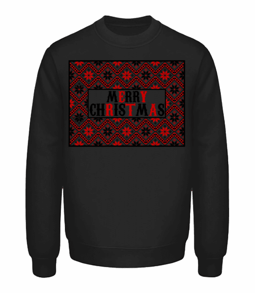 Ugly Merry Christmas - Sweatshirt Unisexe - Noir - Vorn