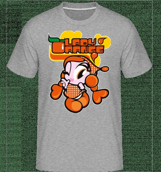 Lady Orange -  Shirtinator Men's T-Shirt - Heather grey - Vorn