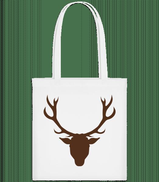 Deer - Brown - Carrier Bag - White - Vorn