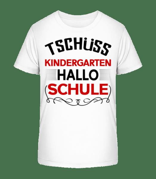 Hallo Schule - Kinder Premium Bio T-Shirt - Weiß - Vorn