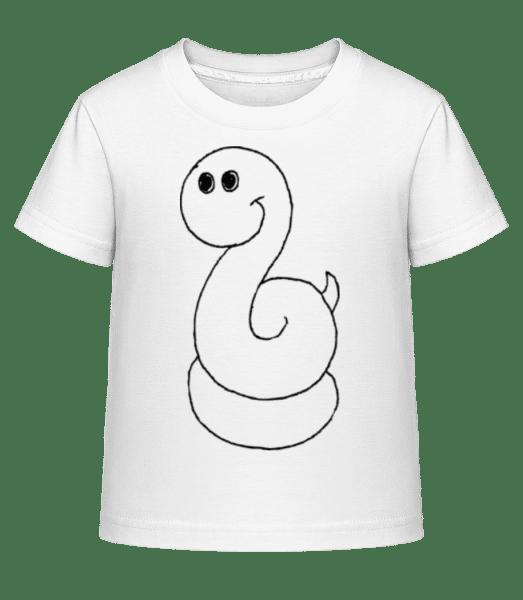 Kids Comic - Snake - Kid's Shirtinator T-Shirt - White - Front