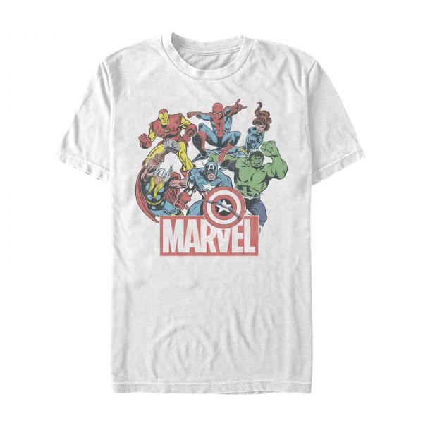 Heroes of Today Group Shot - Marvel Avengers - Men's T-Shirt - White - Front