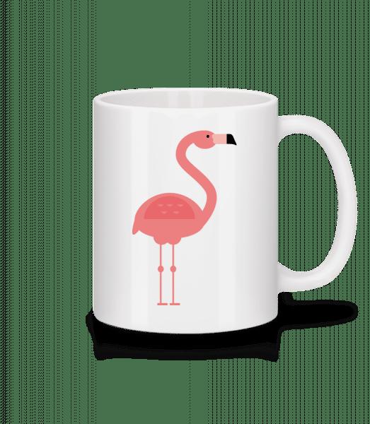 Flamingo Image - Keramický hrnek - Bílá - Napřed