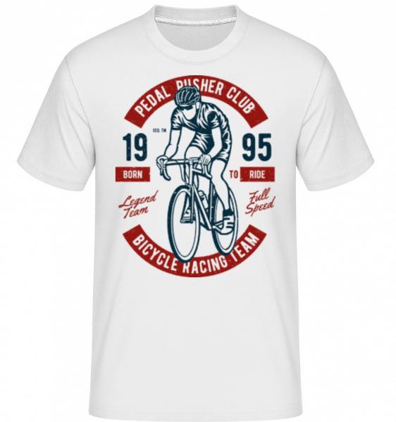 Bicycle Racing Team -  Shirtinator Men's T-Shirt - White - Front