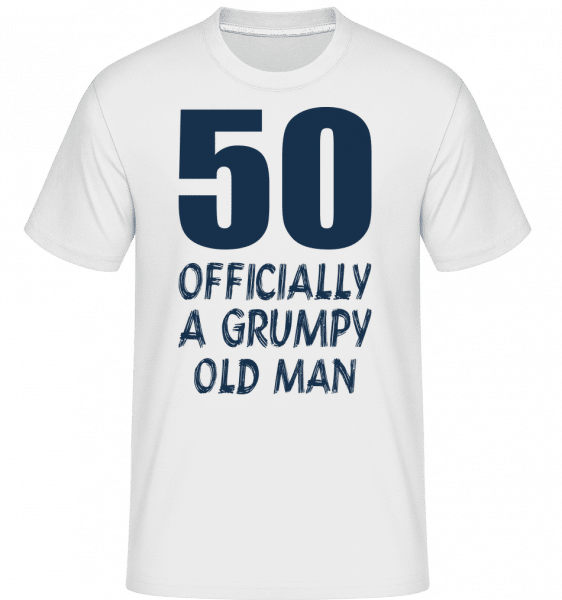 Officially Grumpy Old Man 50 - Shirtinator Männer T-Shirt - Weiß - Vorn