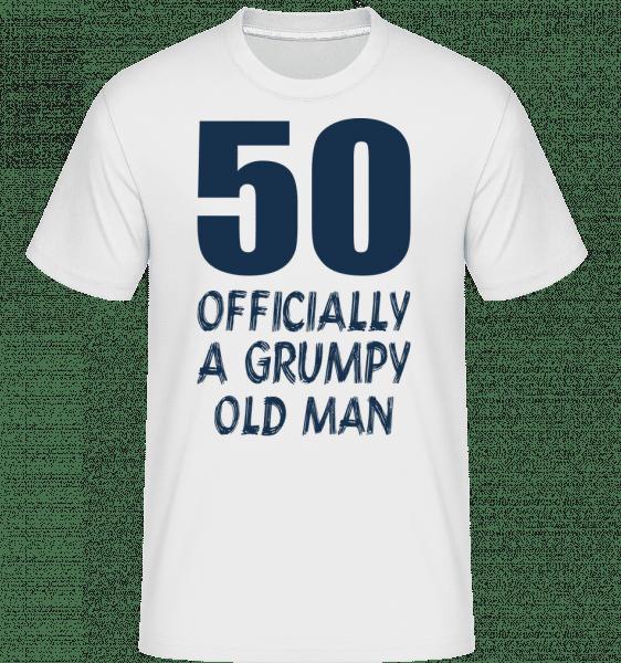 Officially Grumpy Old Man 50 -  Shirtinator tričko pre pánov - Biela - Predné