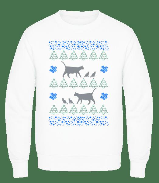 Christmas Cats - Men's Sweatshirt AWDis - White - Front