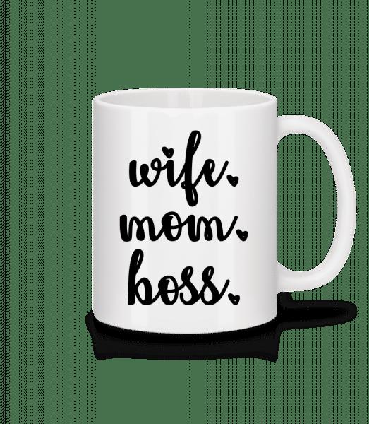 Wife Mom Boss - Mug - White - Front