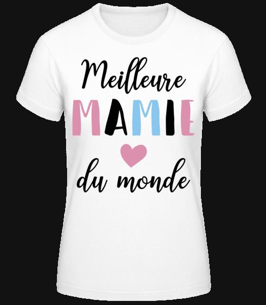 Meilleure Mamie Du Monde - T-shirt standard Femme - Blanc - Vorn