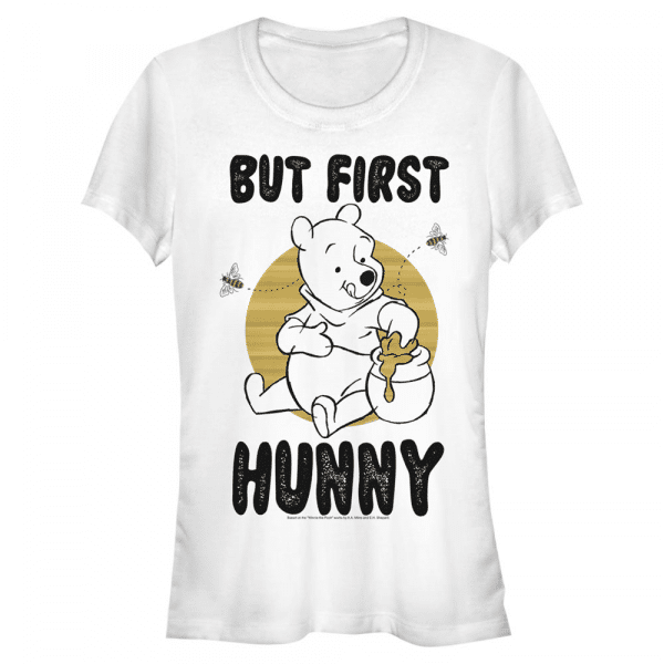 First Hunny - Disney Winnie the Pooh - Women's T-Shirt - White - Front