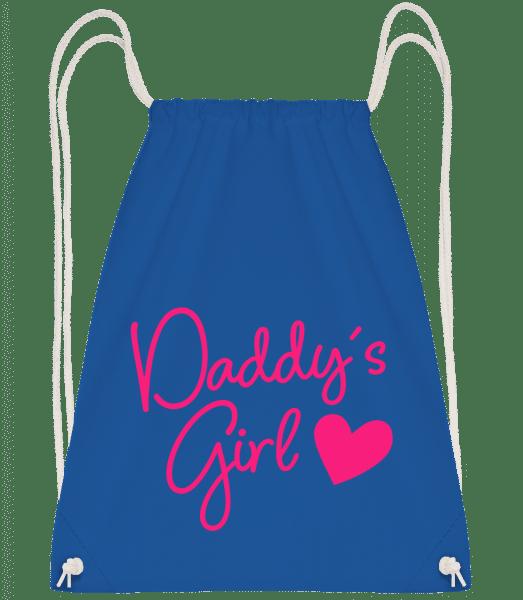 Daddy's Girl - Drawstring Backpack - Royal blue - Vorn