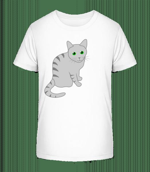 Kätzchen - Kinder Premium Bio T-Shirt - Weiß - Vorn