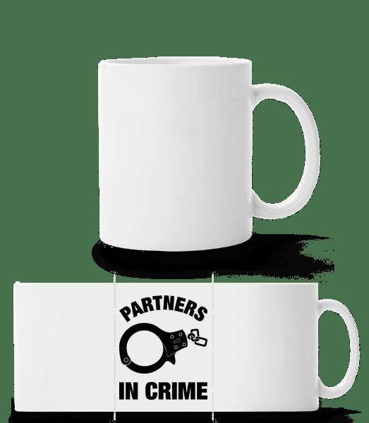 Partner in crime - Panoramatasse - Weiß - Vorn