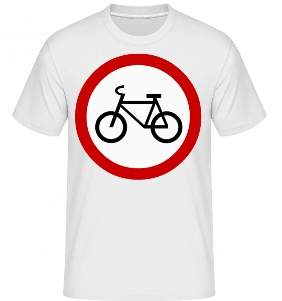 Pozor cyklisté Sign -  Shirtinator tričko pro pány - Bílá - Napřed