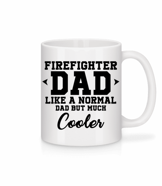 Cool Firefighter Dad - Mug - White - Vorn