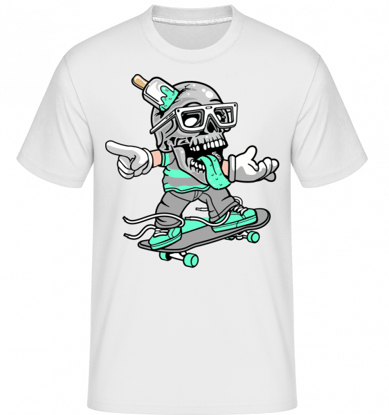 Skull Skater -  Shirtinator Men's T-Shirt - White - Vorn