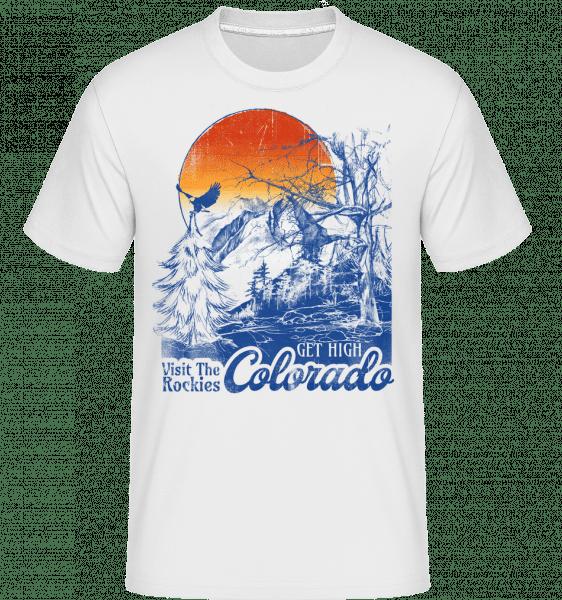 Get High Colarado -  Shirtinator Men's T-Shirt - White - Vorn