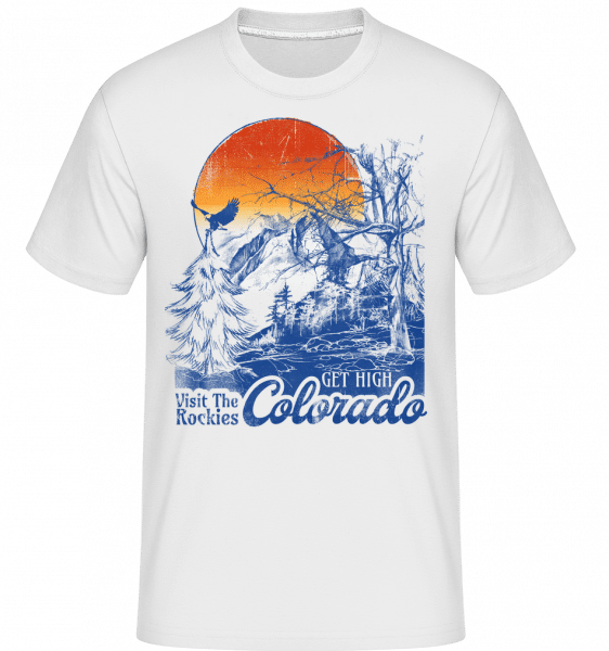 Get High Colarado - Shirtinator Männer T-Shirt - Weiß - Vorn
