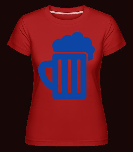Beer - Shirtinator Frauen T-Shirt - Rot - Vorn