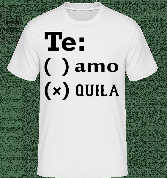Te Amo Tequila -  Shirtinator tričko pro pány - Bílá - Napřed