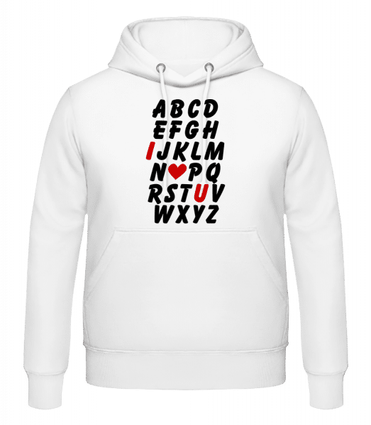 Love Alphabet - Men's Hoodie - White - Vorn