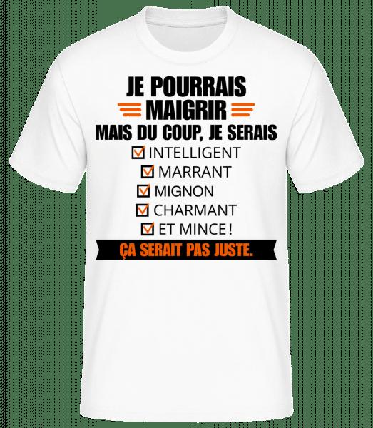 Je Pourrais Maigrir - T-shirt standard Homme - Blanc - Vorn