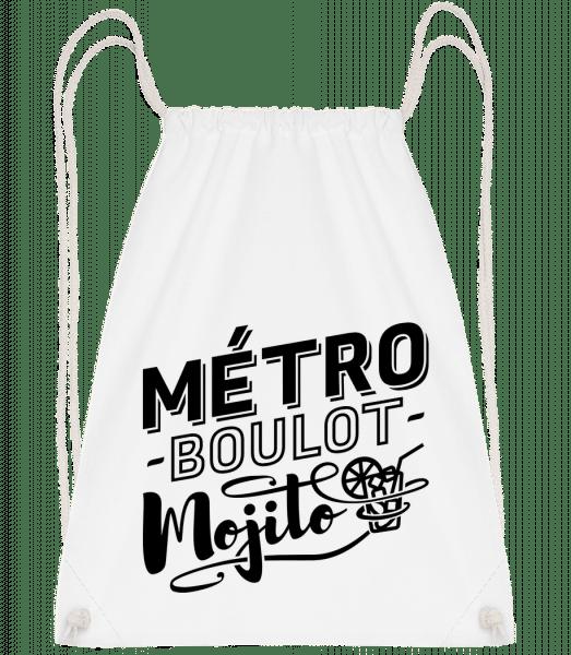 Métro Mojito - Turnbeutel - Weiß - Vorn