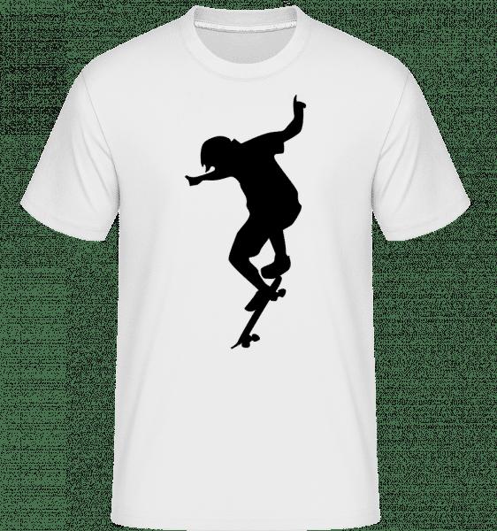 Boy Skater -  T-Shirt Shirtinator homme - Blanc - Vorn